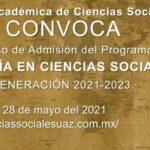 Admisión del Programa de MAESTRÍA EN CIENCIAS SOCIALES