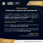 Convocatoria Proyectos de Investigación